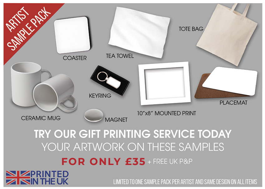 Artist Sample Pack for £29+vat
