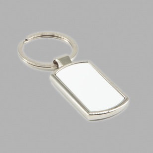 Metal Rectangular Keyring